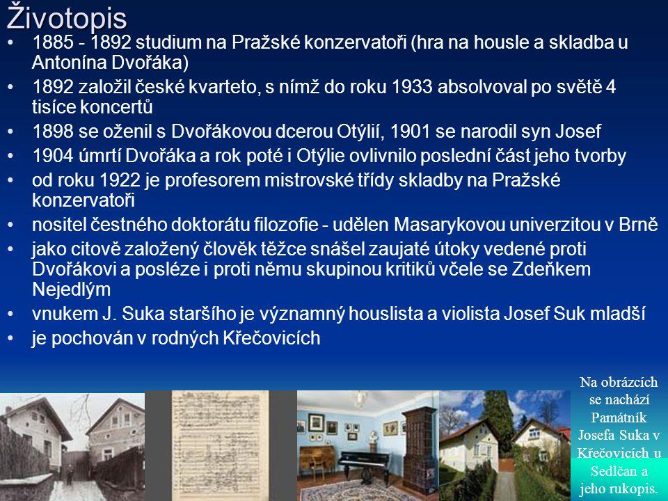 Životopis 1885 - 1892 studium na Pražské konzervatoři (hra na housle a skladba u Antonína Dvořáka)