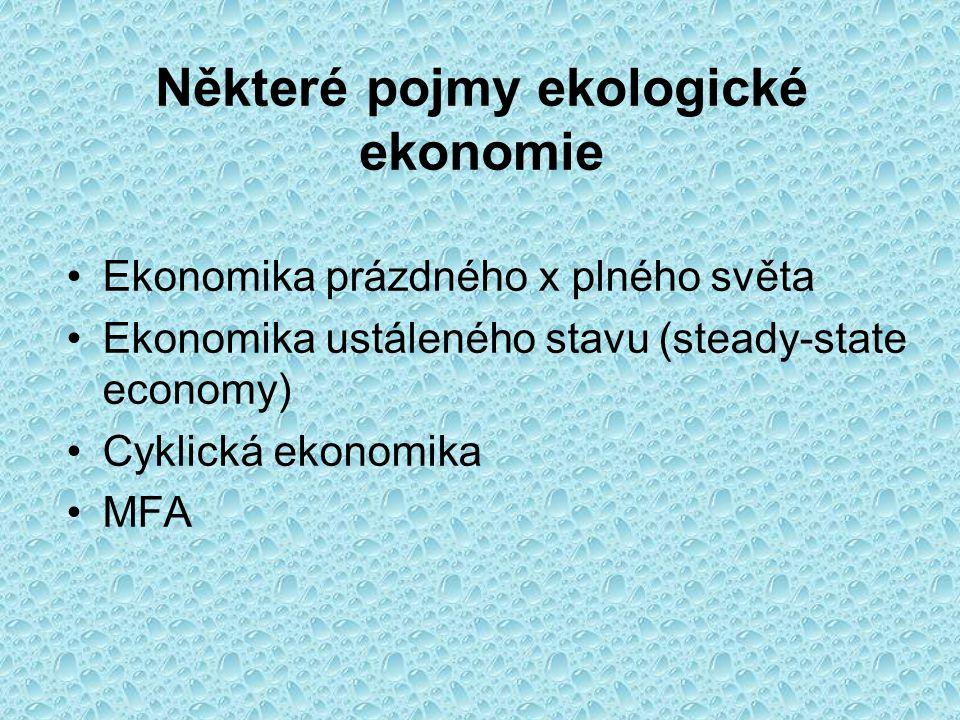 Některé pojmy ekologické ekonomie