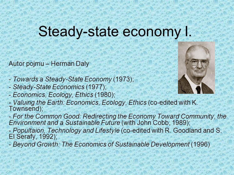 Steady-state economy I.