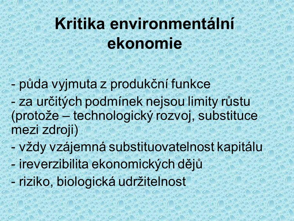 Kritika environmentální ekonomie