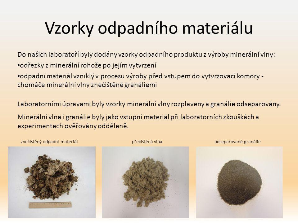 Vzorky odpadního materiálu