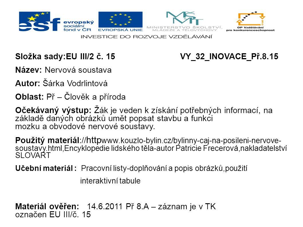 Složka sady:EU III/2 č. 15 VY_32_INOVACE_Př.8.15