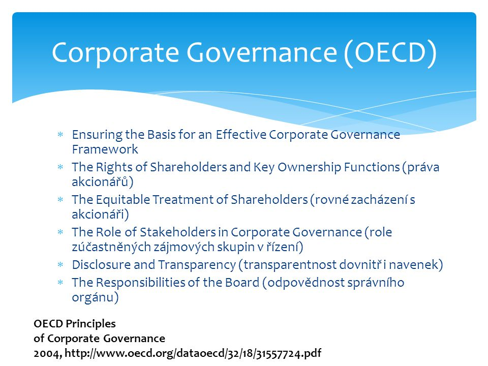 Corporate Governance (OECD)