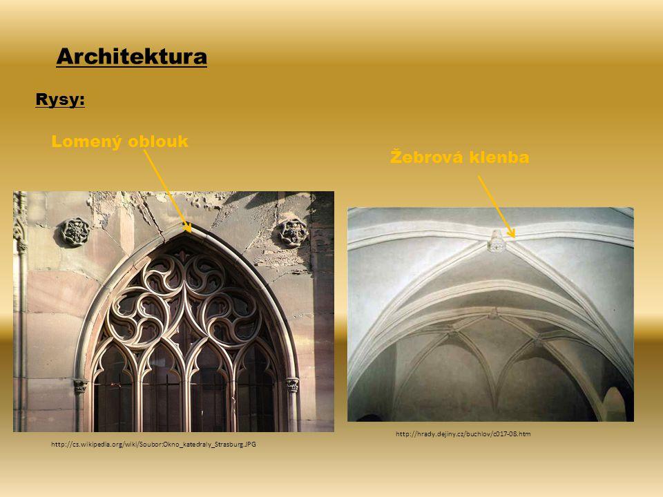 Architektura Rysy: Lomený oblouk Žebrová klenba