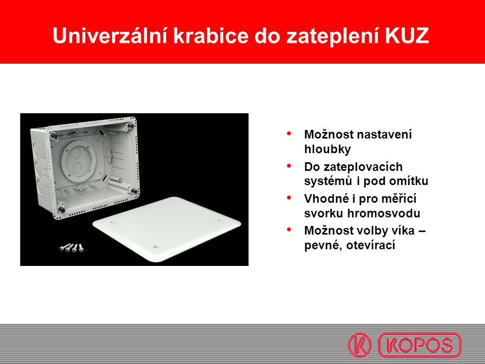 Univerzální krabice do zateplení KUZ