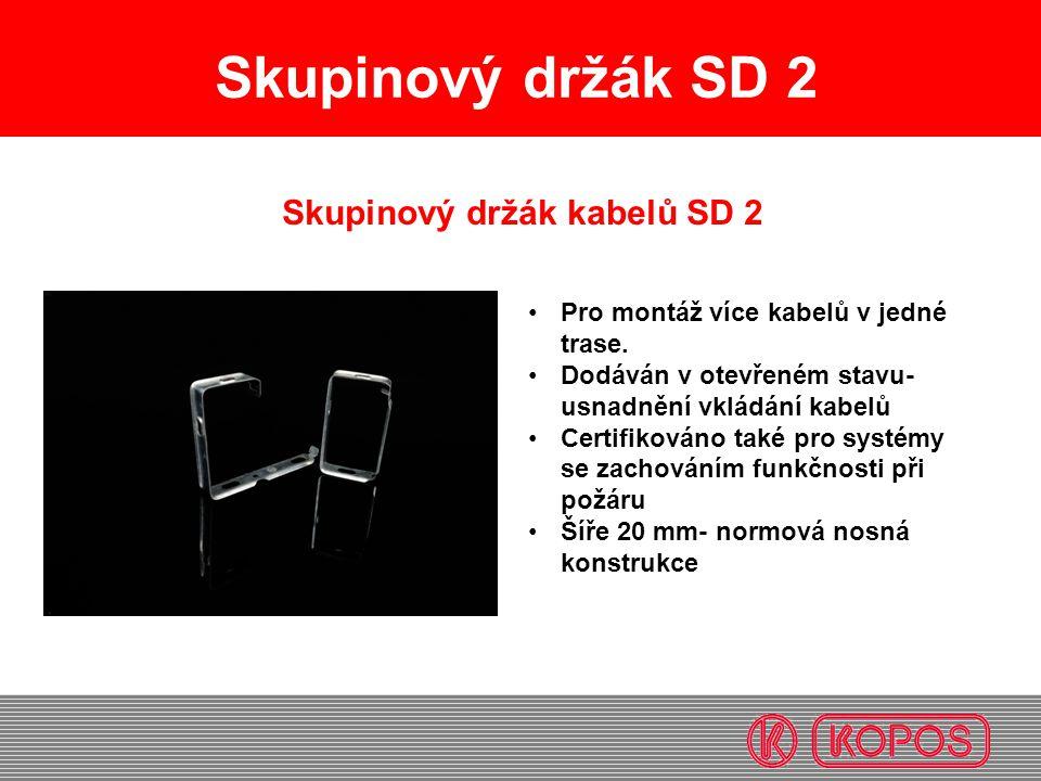 Skupinový držák kabelů SD 2