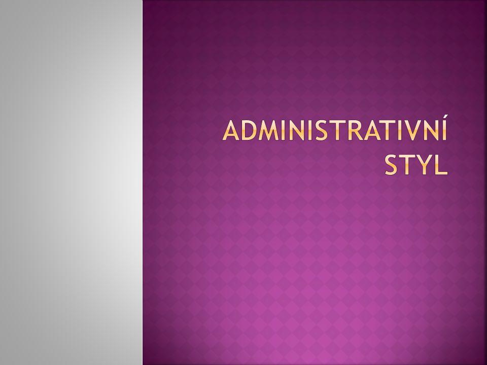 Administrativní styl