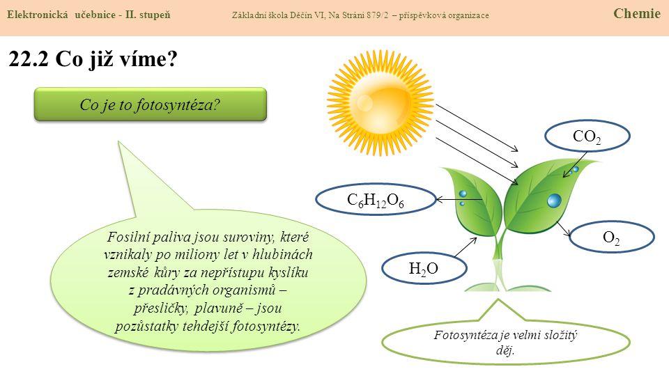 Fotosyntéza je velmi složitý děj.