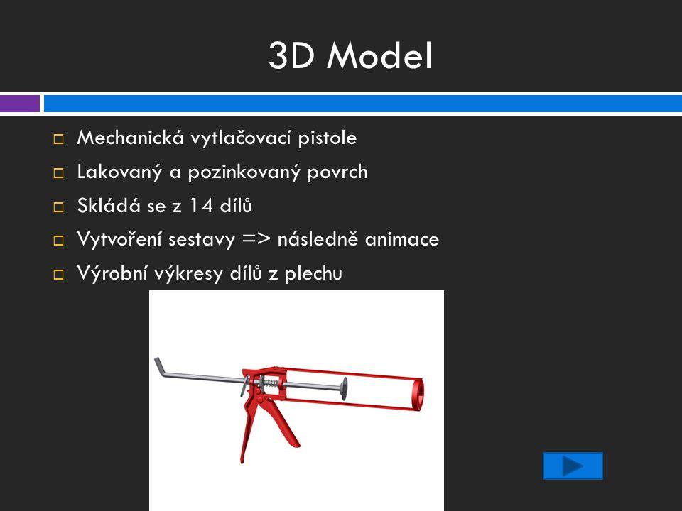 3D Model Mechanická vytlačovací pistole Lakovaný a pozinkovaný povrch