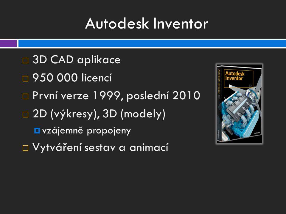 Autodesk Inventor 3D CAD aplikace 950 000 licencí