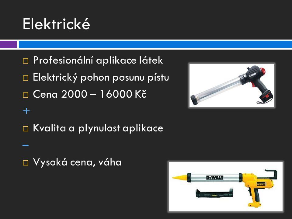 Elektrické Profesionální aplikace látek Elektrický pohon posunu pístu