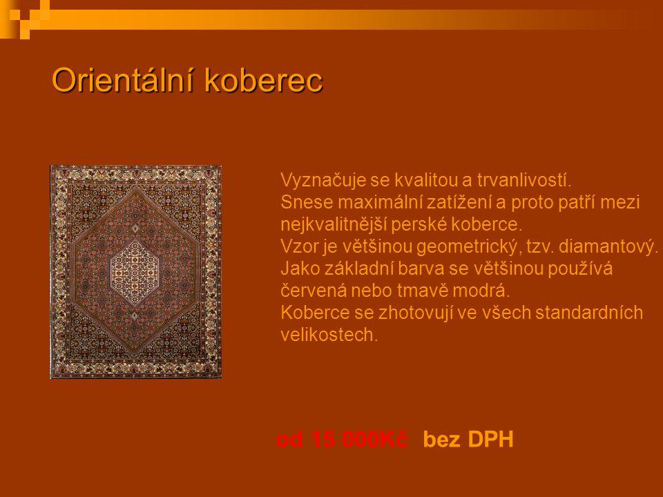 Orientální koberec od 15 000Kč bez DPH