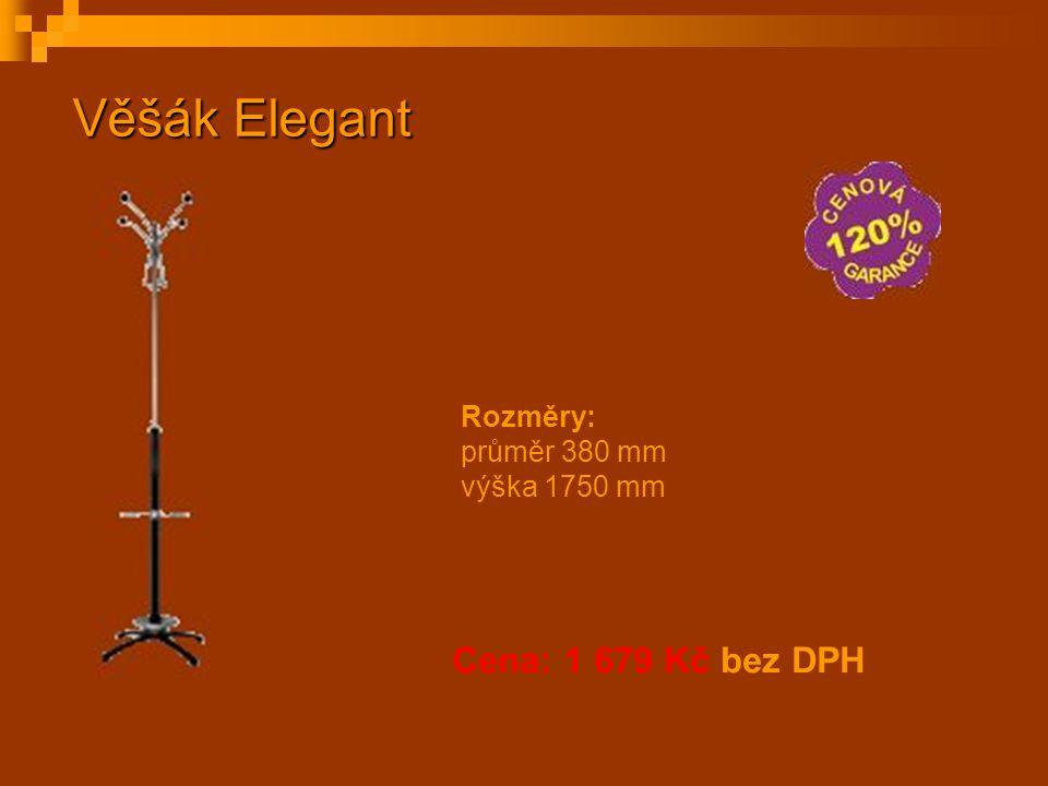Věšák Elegant Cena: 1 679 Kč bez DPH Rozměry: průměr 380 mm