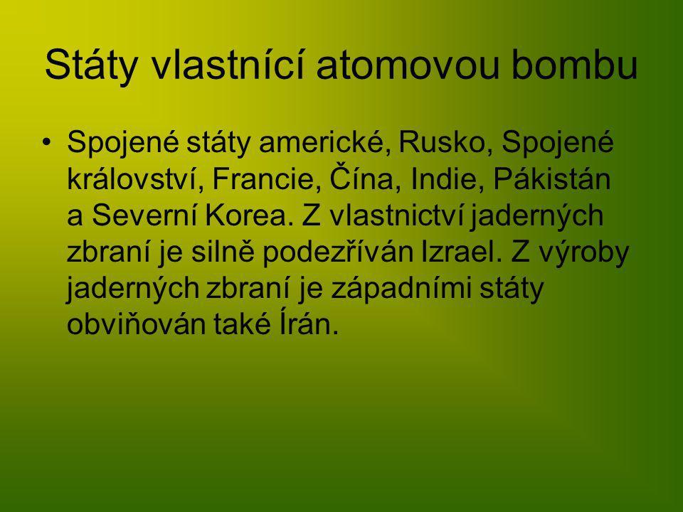 Státy vlastnící atomovou bombu