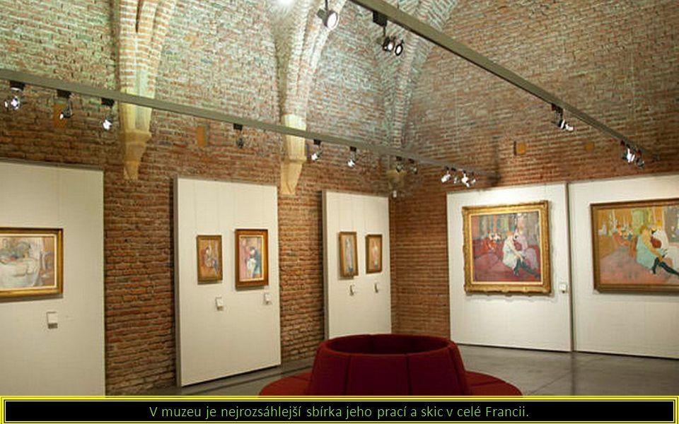V muzeu je nejrozsáhlejší sbírka jeho prací a skic v celé Francii.