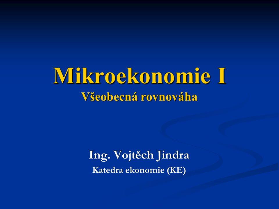 Mikroekonomie I Všeobecná rovnováha