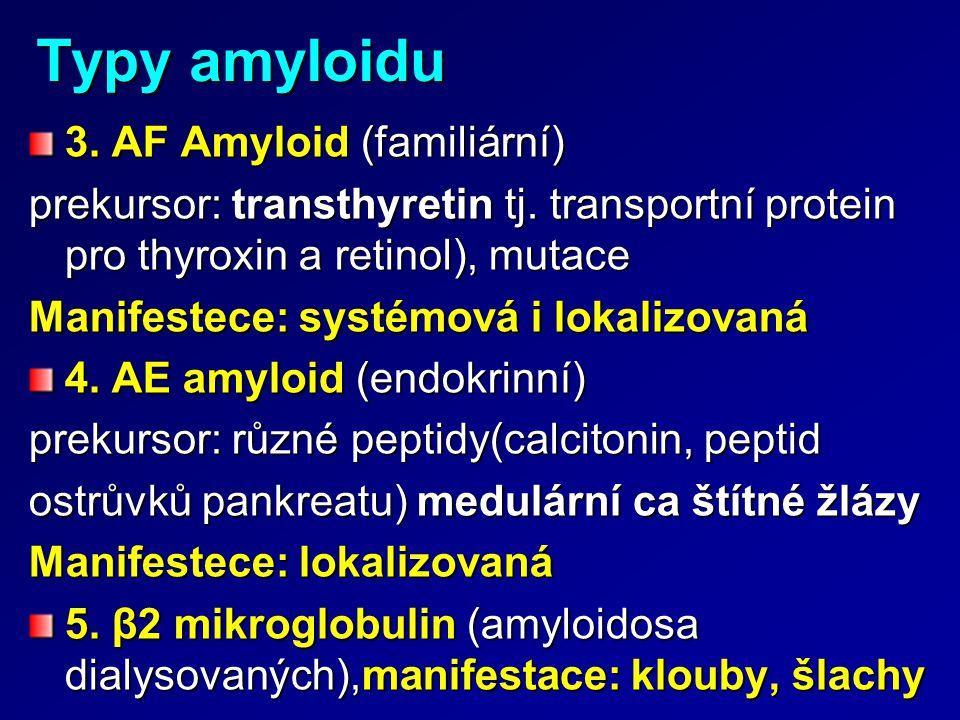 Typy amyloidu 3. AF Amyloid (familiární)
