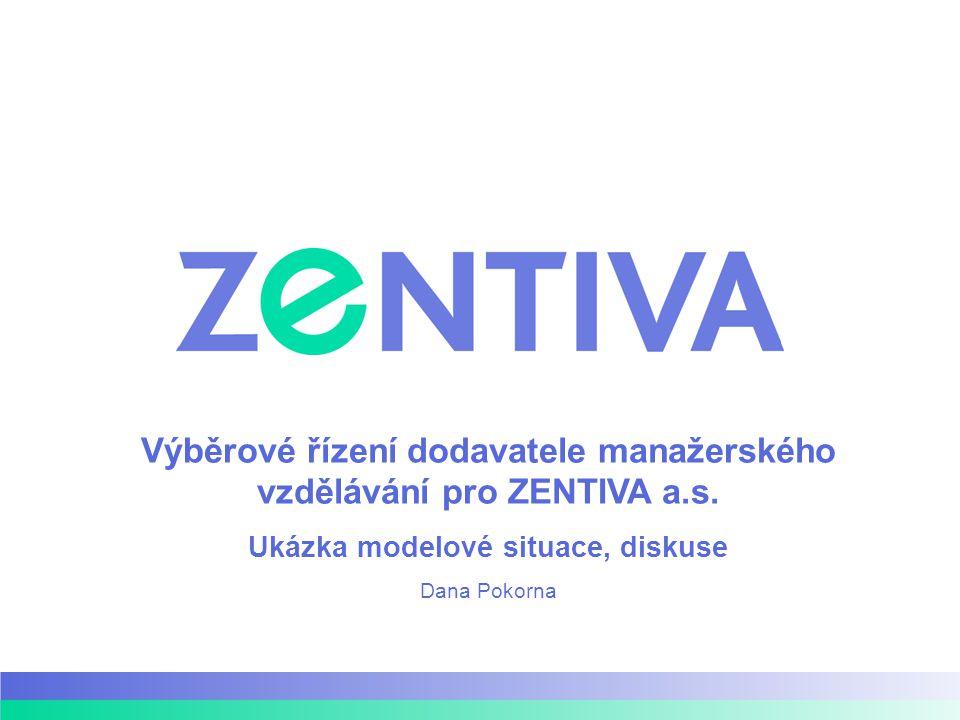 Výběrové řízení dodavatele manažerského vzdělávání pro ZENTIVA a.s.
