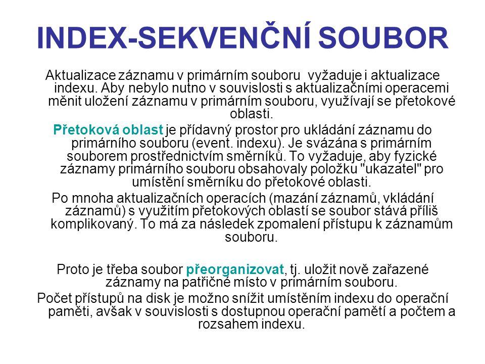 INDEX-SEKVENČNÍ SOUBOR
