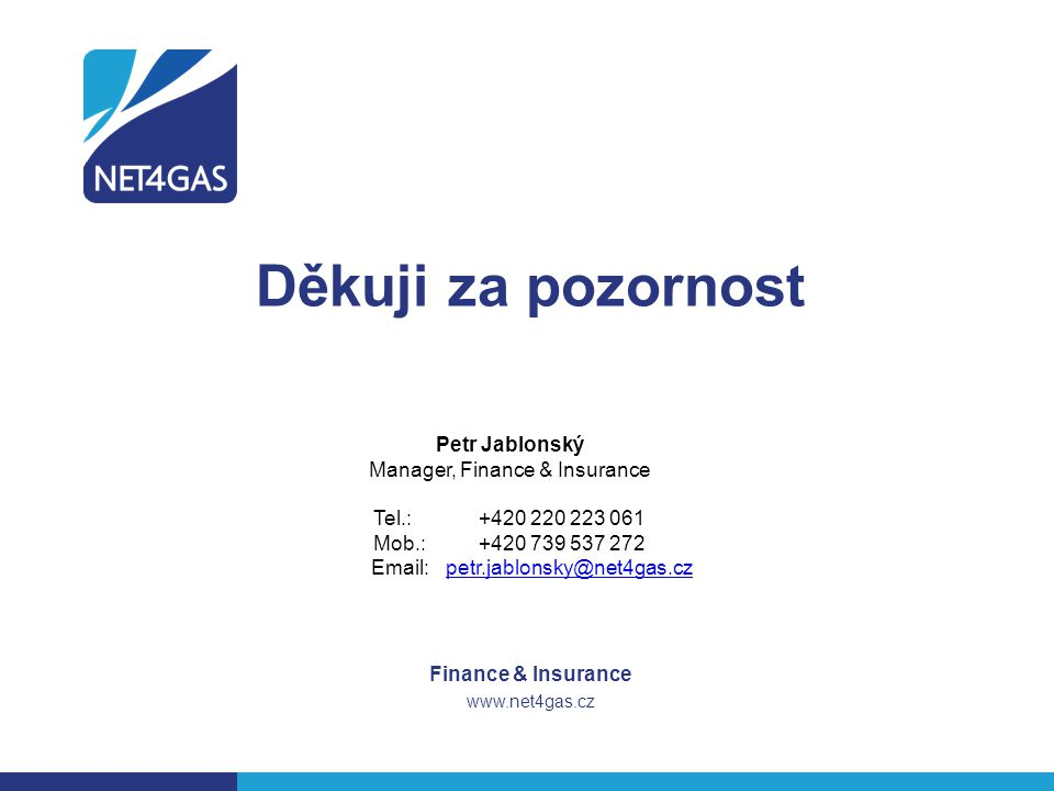 Finance & Insurance www.net4gas.cz