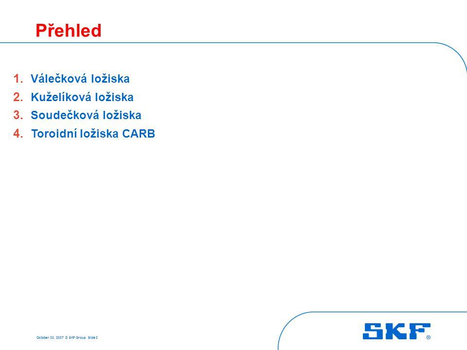 1 Válečková ložiska October 30, 2007 © SKF Group Slide 3