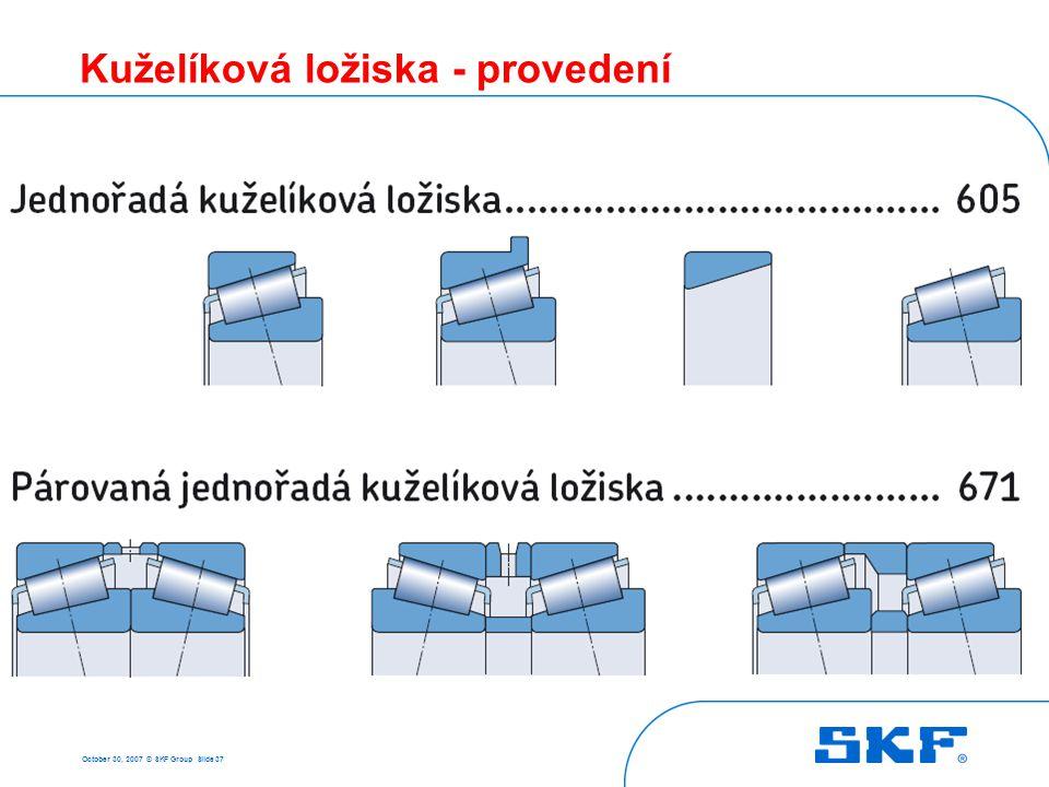 3 Soudečková ložiska October 30, 2007 © SKF Group Slide 38