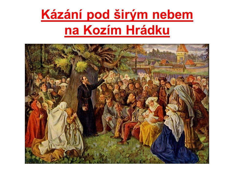 Kázání pod širým nebem na Kozím Hrádku