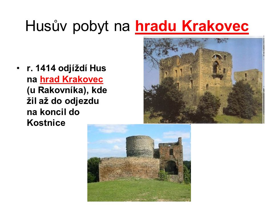Husův pobyt na hradu Krakovec