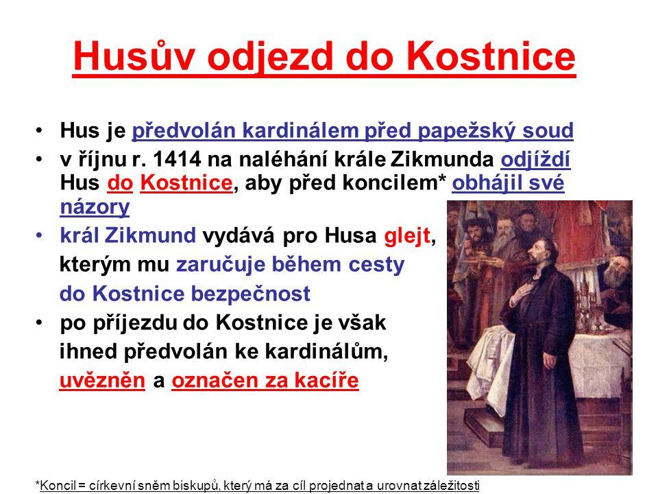 Husův odjezd do Kostnice