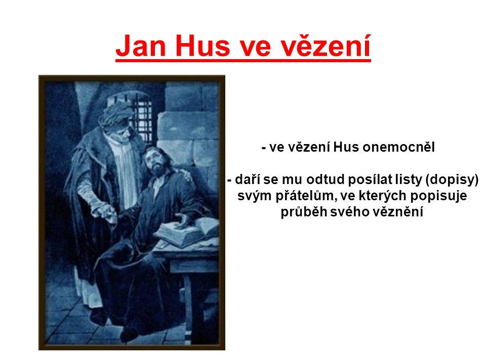 Jan Hus ve vězení - ve vězení Hus onemocněl
