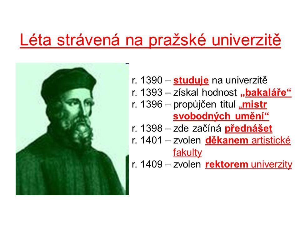 Léta strávená na pražské univerzitě