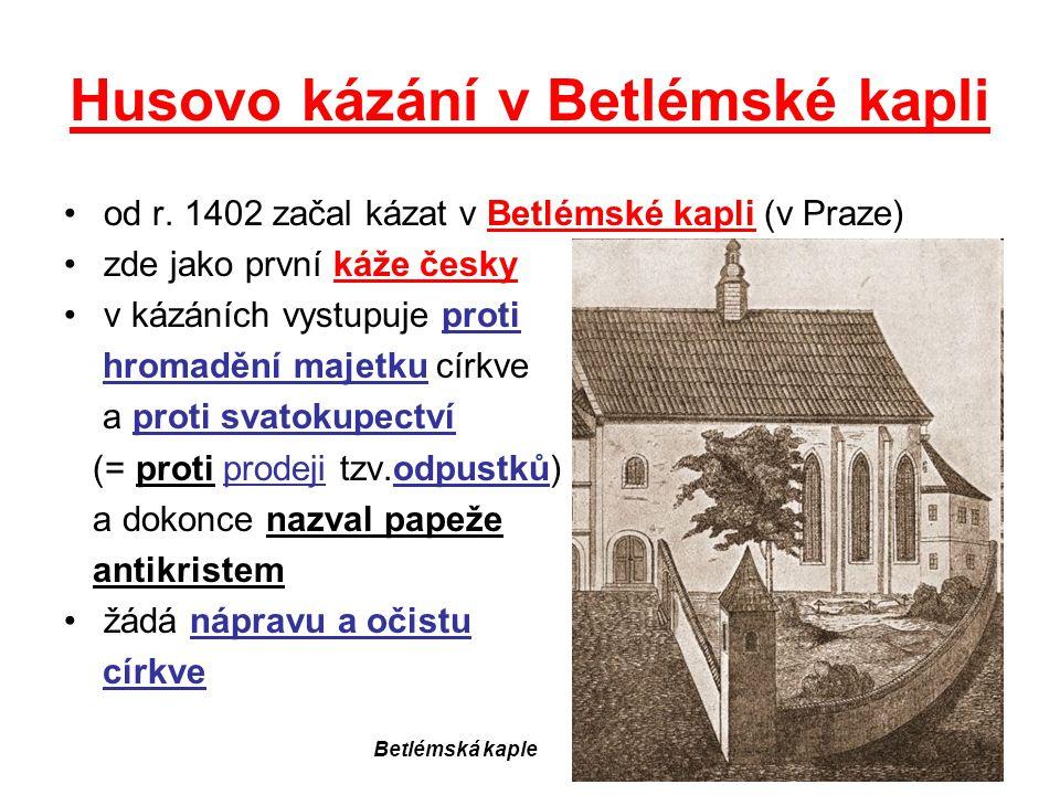 Husovo kázání v Betlémské kapli