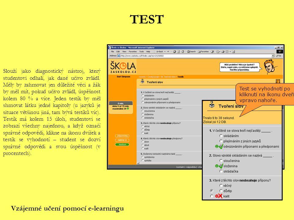 TEST Vzájemné učení pomocí e-learningu