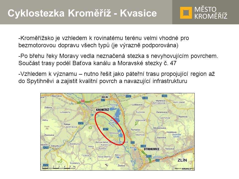 Cyklostezka Kroměříž - Kvasice