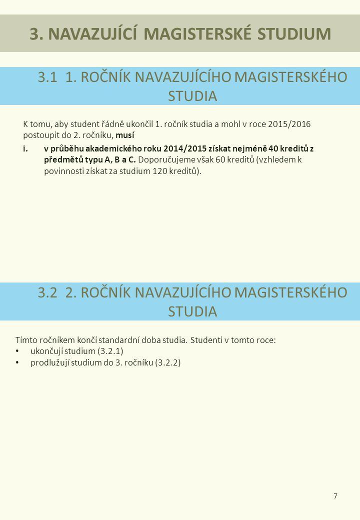 3. NAVAZUJÍCÍ MAGISTERSKÉ STUDIUM