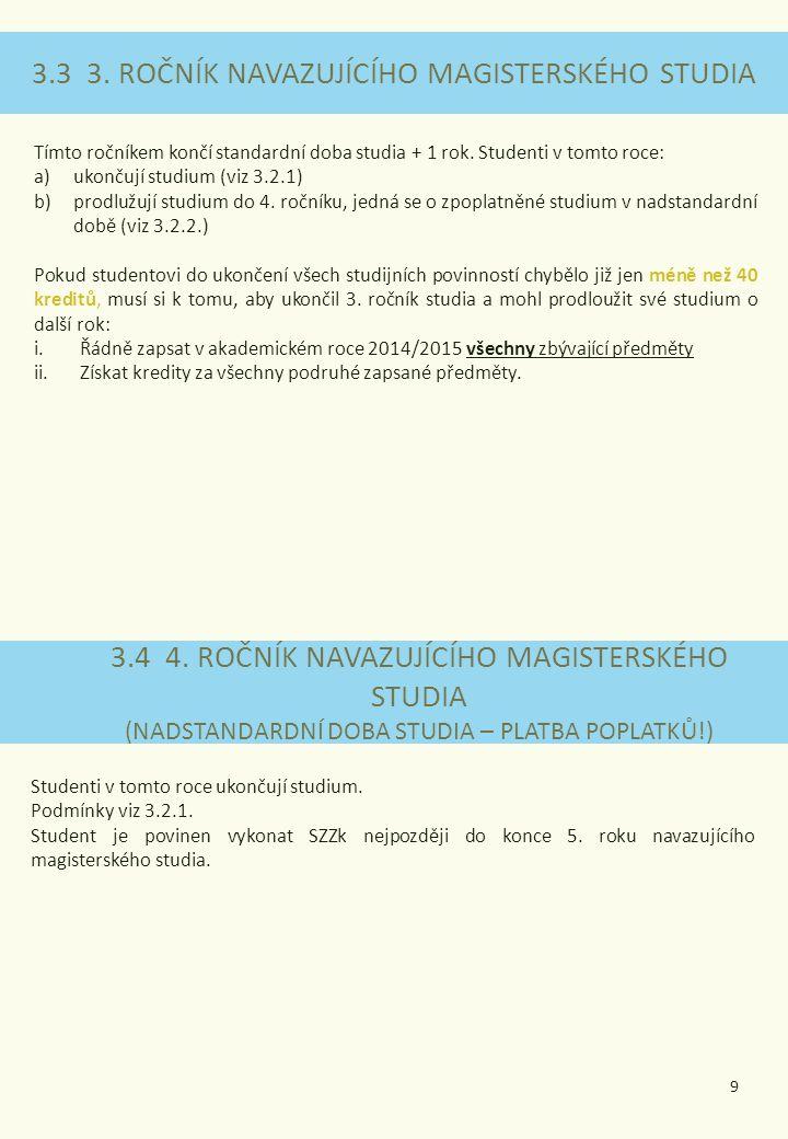 3.3 3. ROČNÍK NAVAZUJÍCÍHO MAGISTERSKÉHO STUDIA