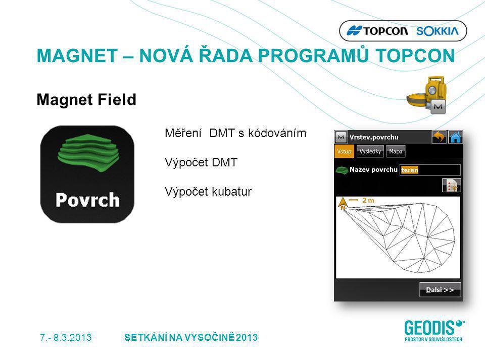 MAGNET – NOVÁ ŘADA PROGRAMŮ TOPCON Magnet Field