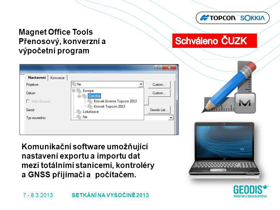 Schváleno ČUZK Magnet Office Tools Přenosový, konverzní a