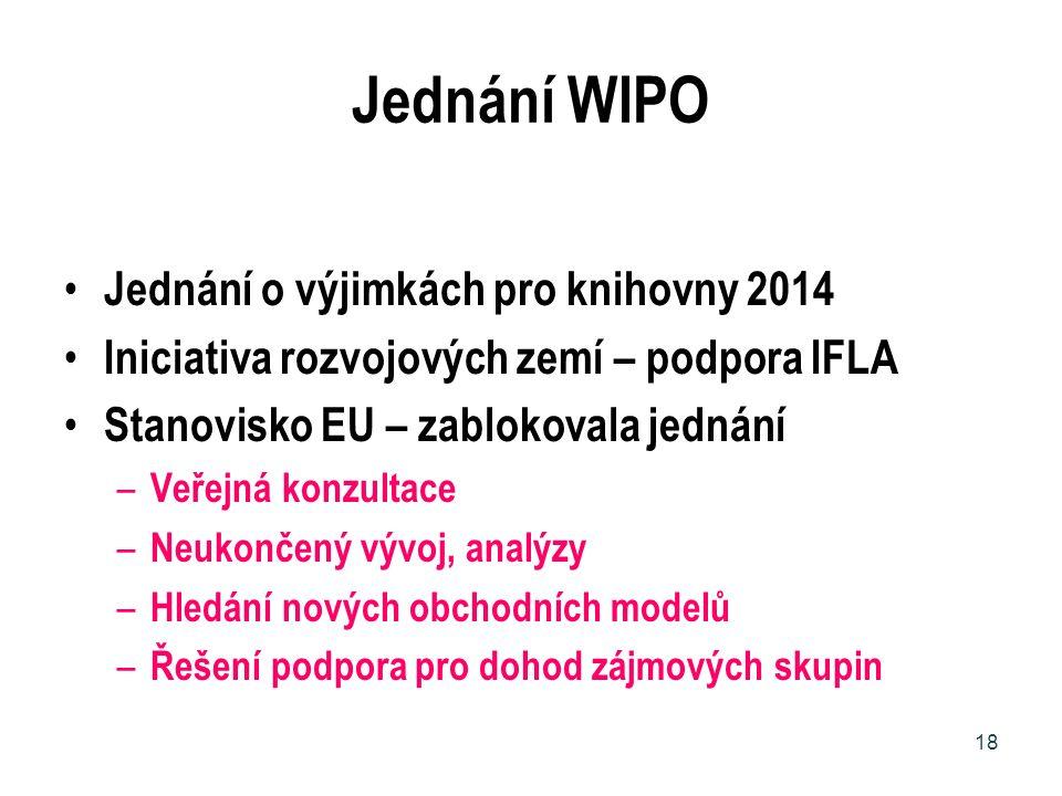 Jednání WIPO Jednání o výjimkách pro knihovny 2014
