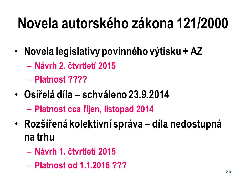 Novela autorského zákona 121/2000