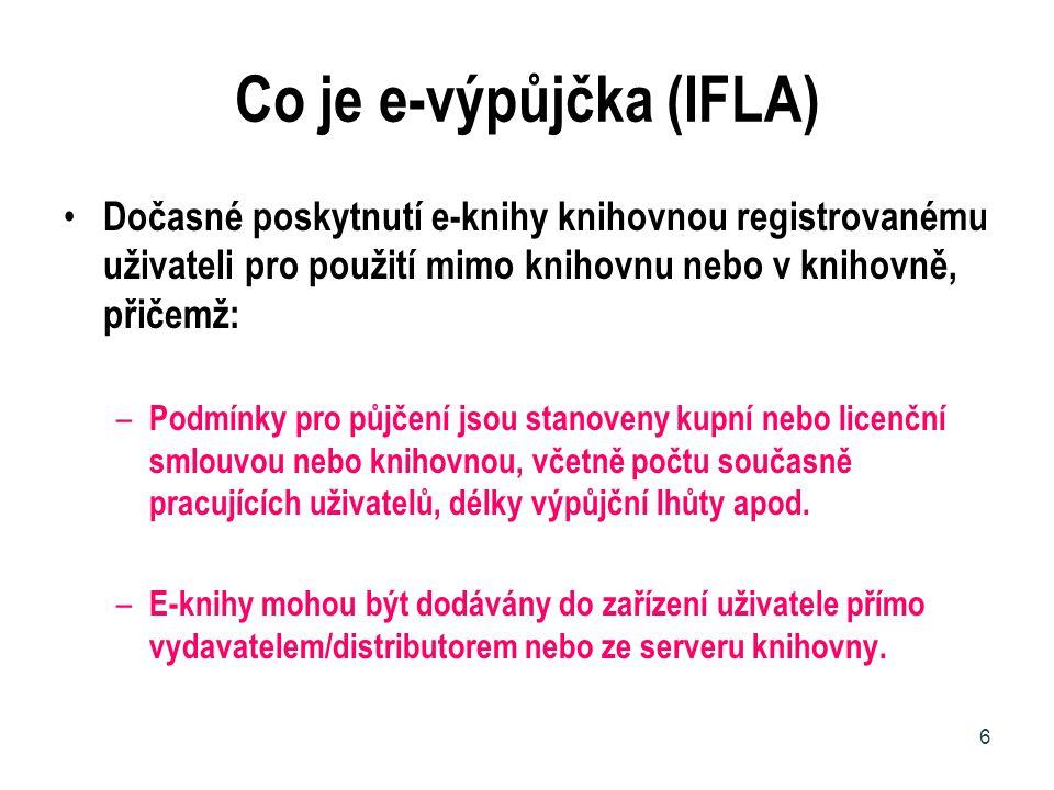 Co je e-výpůjčka (IFLA)