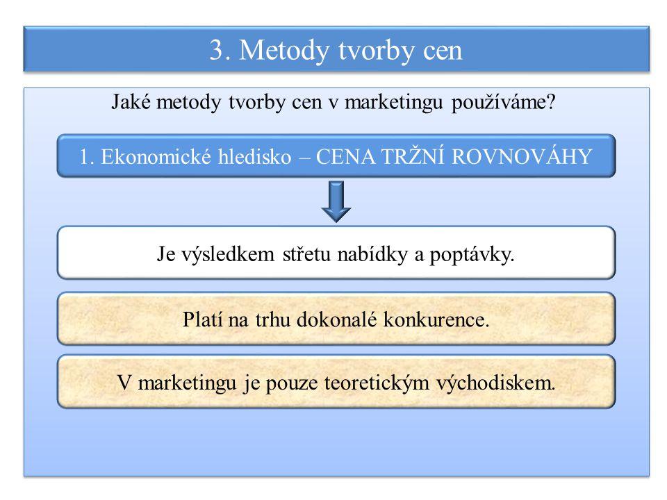3. Metody tvorby cen Jaké metody tvorby cen v marketingu používáme