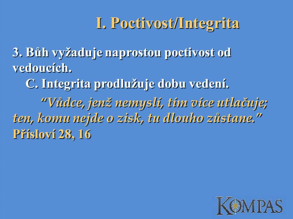 I. Poctivost/Integrita