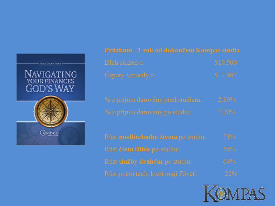 Průzkum- 1 rok od dokončení Kompas studia
