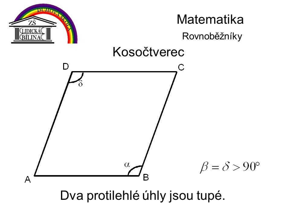 Matematika Rovnoběžníky