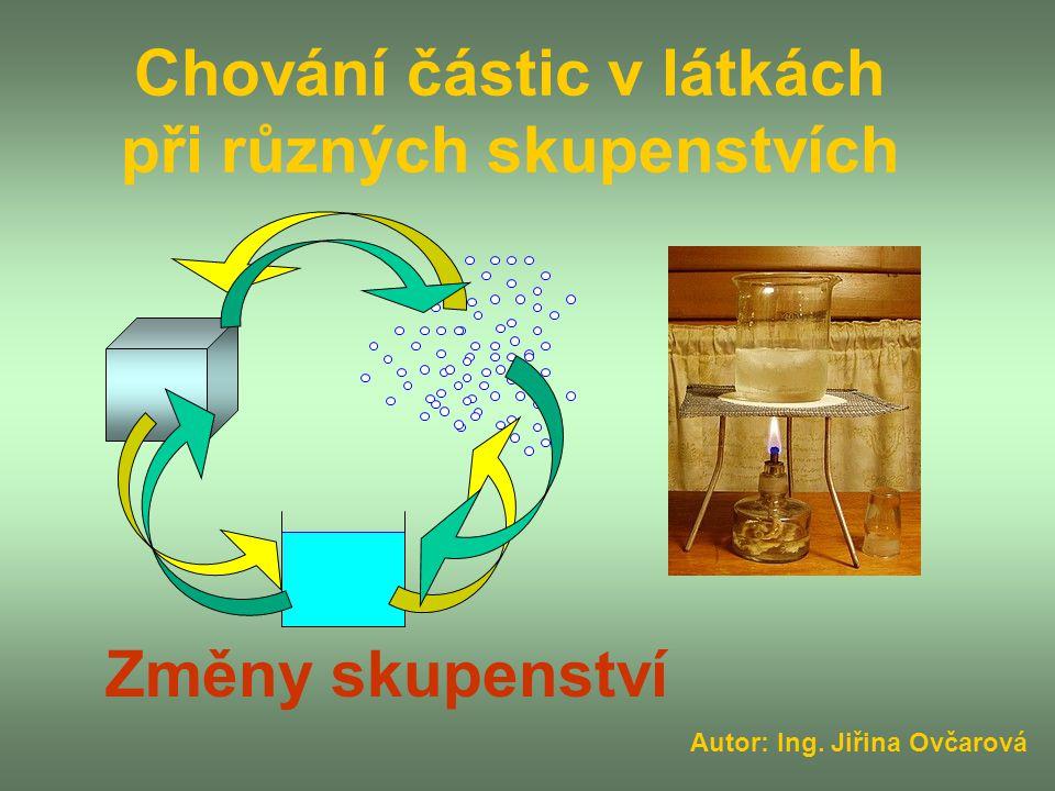 Chování částic v látkách při různých skupenstvích