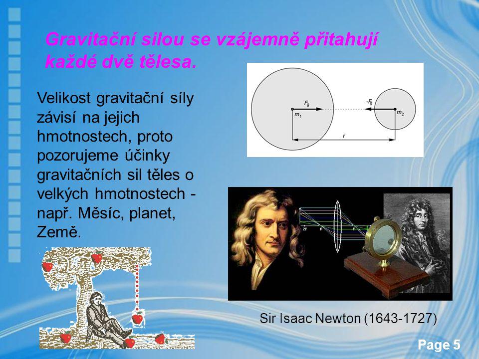 Gravitační silou se vzájemně přitahují každé dvě tělesa.