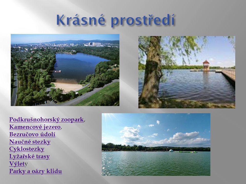 Krásné prostředí Podkrušnohorský zoopark, Kamencové jezero,