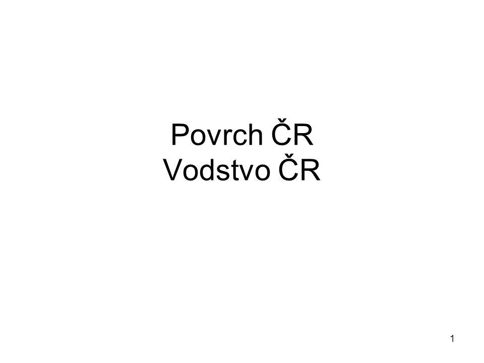 Povrch ČR Vodstvo ČR