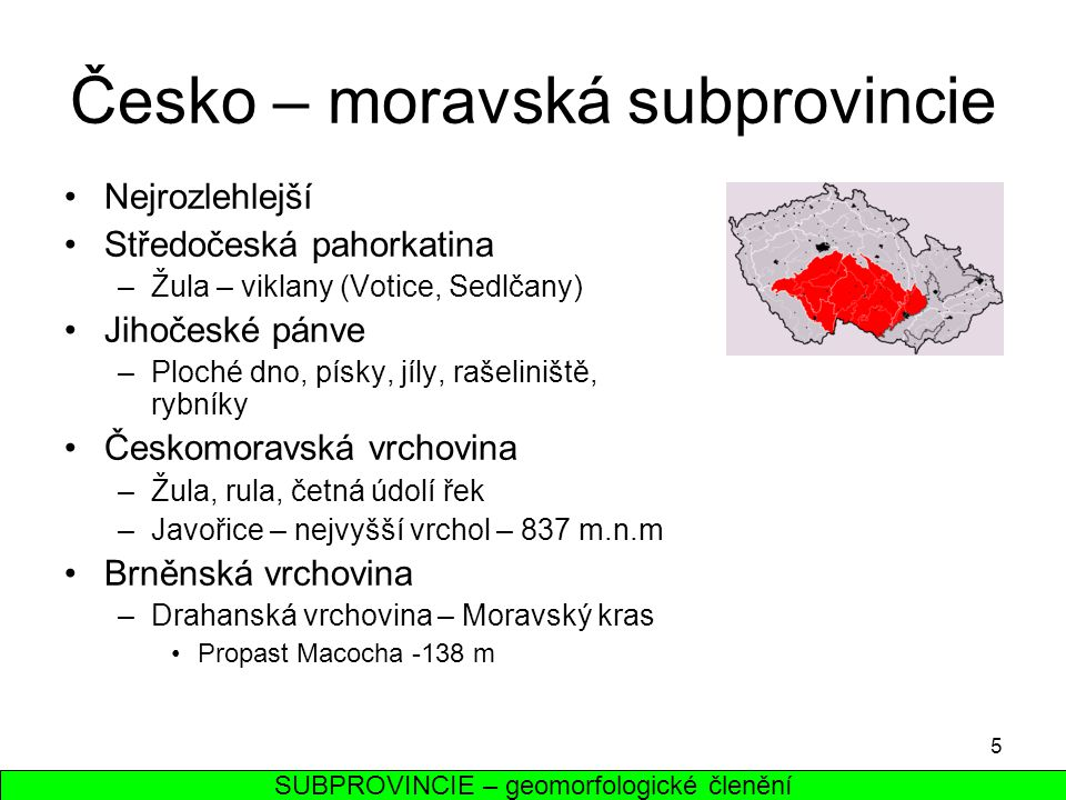 Česko – moravská subprovincie